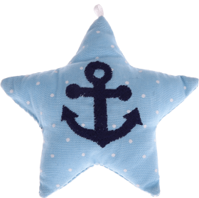 textile star babyblue anchor