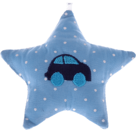 textile star babyblue car