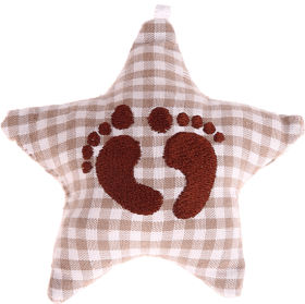 textile star brown babyfoot