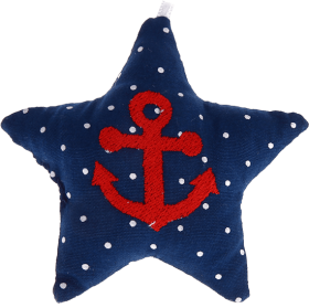 textile star darkblue anchor