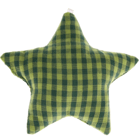 textile star dark green checkered