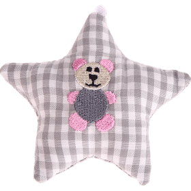 textile star grey bear