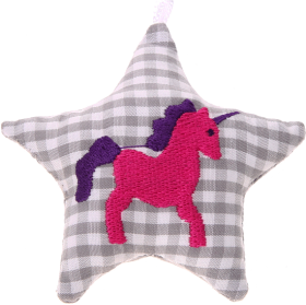 textile star grey unicorn