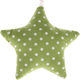 textile star light green spots