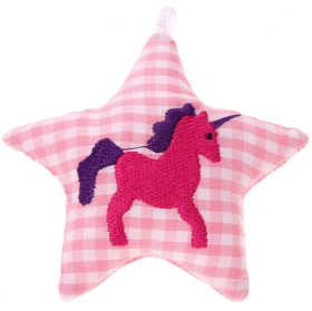 textile star pink unicorn