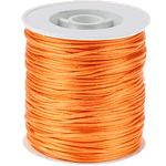 50m Kumihimo Satinkordel 1mm orange
