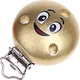 Motivclip Smiley : gold