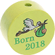 "Motivperle ""Born 2018"" : lemon"
