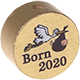 "Motivperle – ""Born 2020"" : gold"