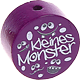 "Motivperle ""Kleines Monster"" : purpurlila"