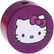 Motivperle Hello Kitty : purpurlila