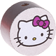 Motivperle Hello Kitty : silber