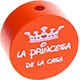 "Motivperle ""la princesa da la casa"" : orange"