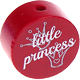 "Motivperle ""little princess"" (Englisch) : bordeauxrot"