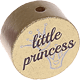 "Motivperle ""little princess"" (Englisch) : gold"
