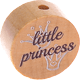 "Motivperle ""little princess"" (Englisch) : natur"