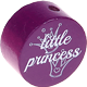 "Motivperle ""little princess"" (Englisch) : purpurlila"