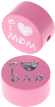 "Motivperle ""I Love Mom / Dad"" : babyrosa"