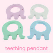 Wooden teething pendant to help your baby learn and play
