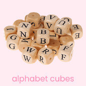 Alphabet Cubes for Pacifier Chains with names