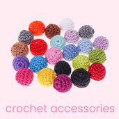 Crochet beads – Crochet accessories for dummy chains and grasping toys