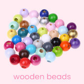 Order wooden beads for designing baby toys online