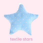 Textile stars for lovely dummy chains