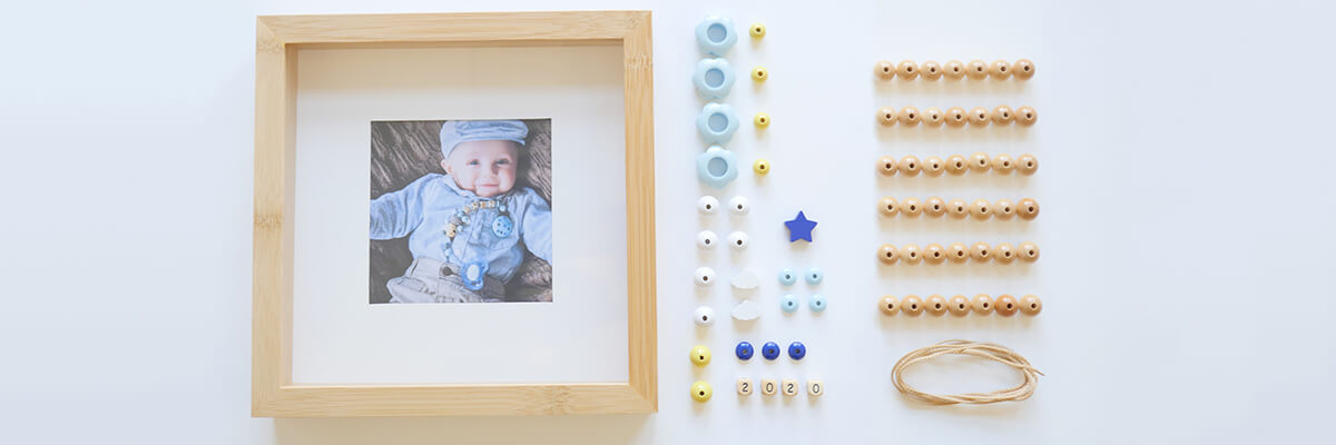 craft materials for wooden bead frame
