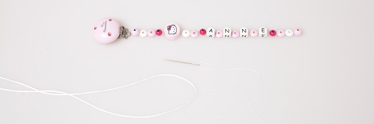 100 Holzperlen Perlen 10 mm Fädeln für Schnullerketten Farbwahl