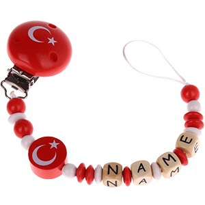 Speenketting in de Turkse nationale kleuren