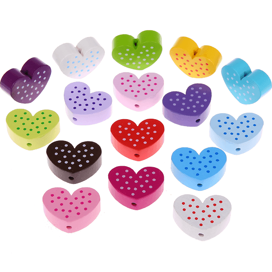 motif bead - spotted heart