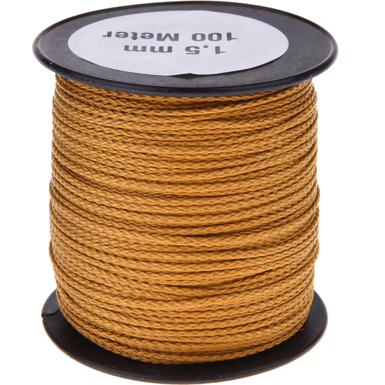 100m PP-Polyester 1,5mm gold