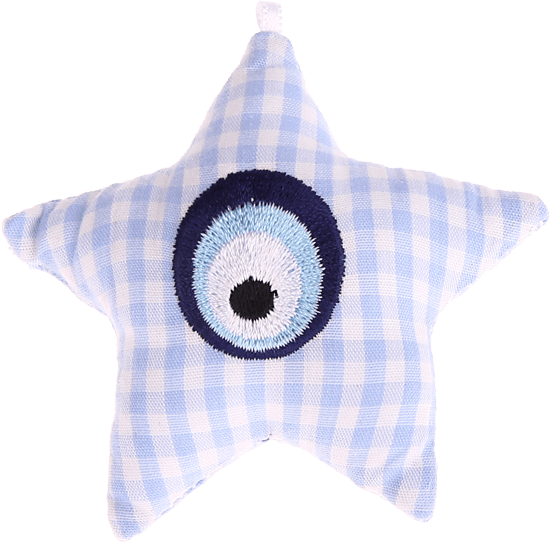 textile star babyblue Eye of Nazar