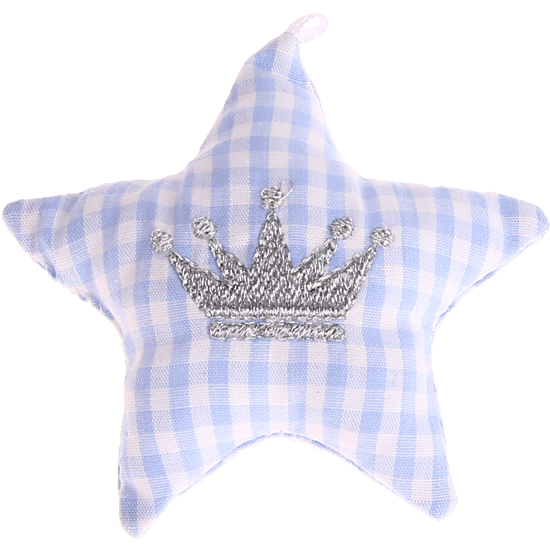 textile star babyblue crown
