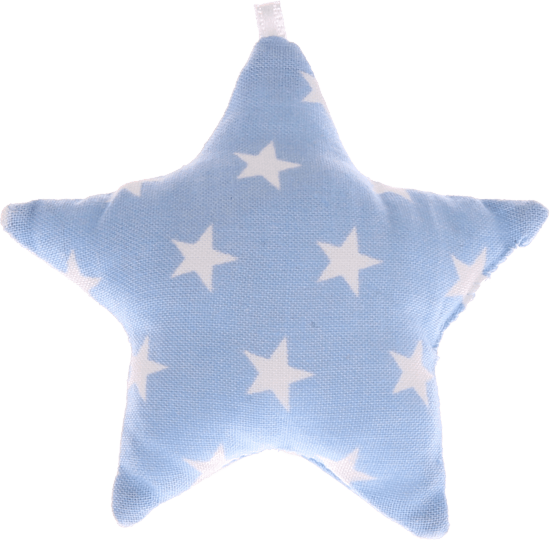 textile star baby blue stars