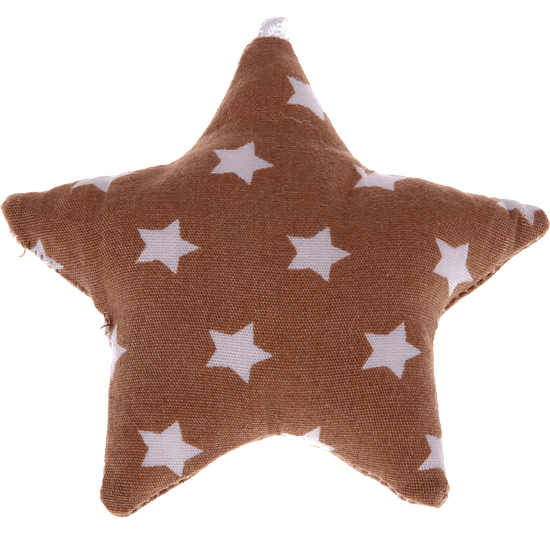 textile star brown stars