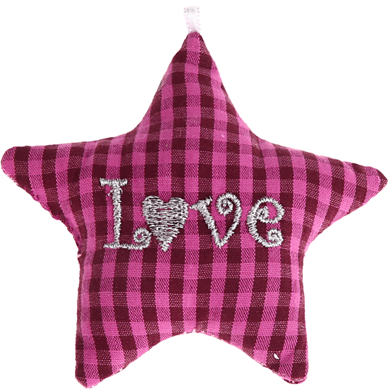 "textile star darkpink ""Love"""