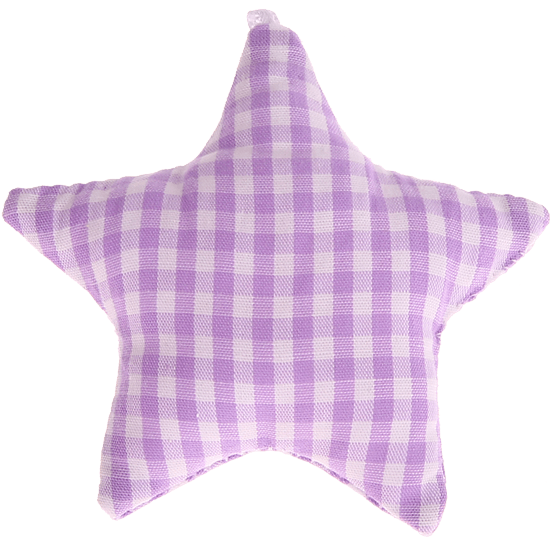 textile star lilac checkered