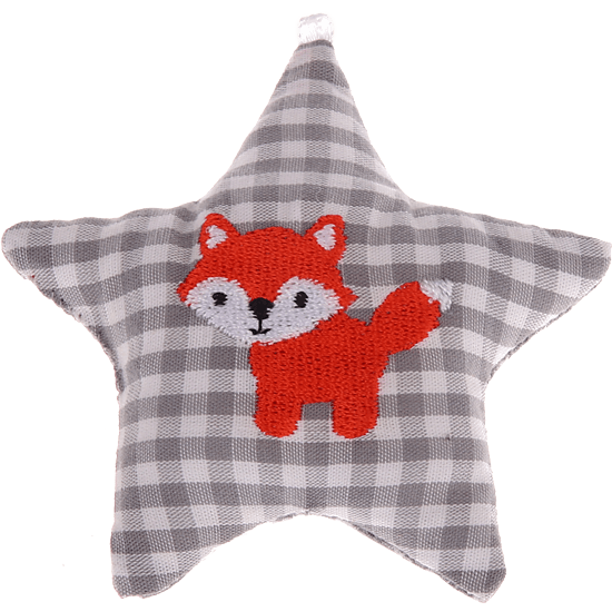 textile star grey fox