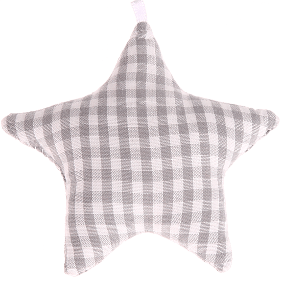 textile star grey checkered