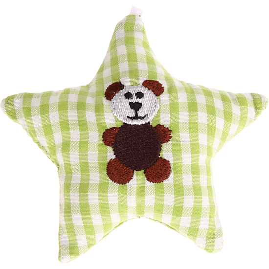 textile star green bear