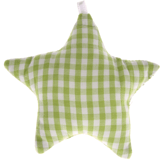 textile star light green checkered