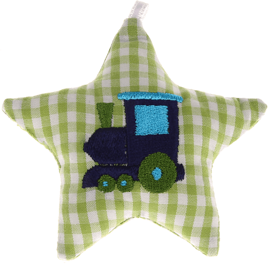 textile star green locomotive