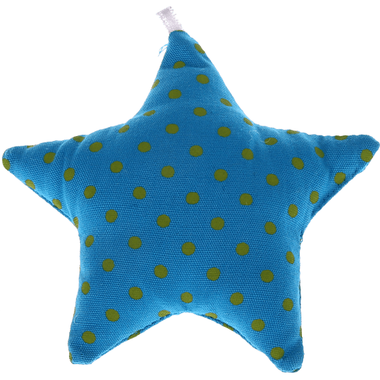 textile star light turquoise spots