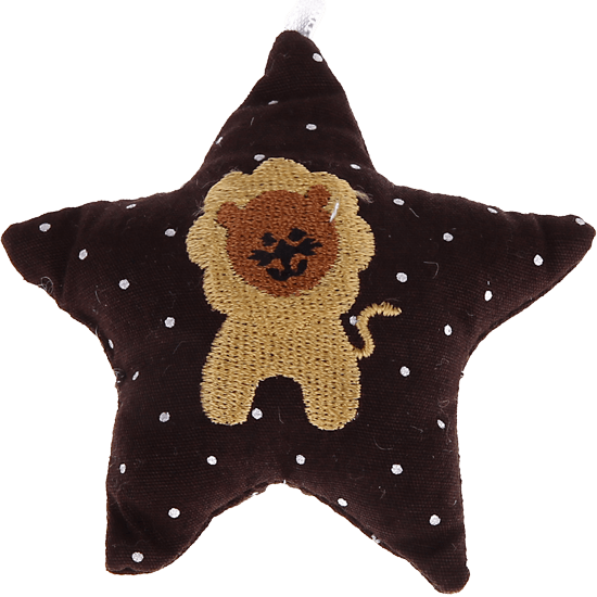 textile star brown lion