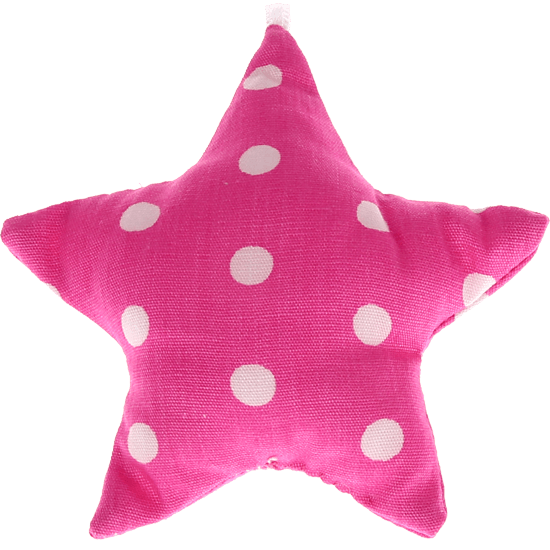 textile star pink spots