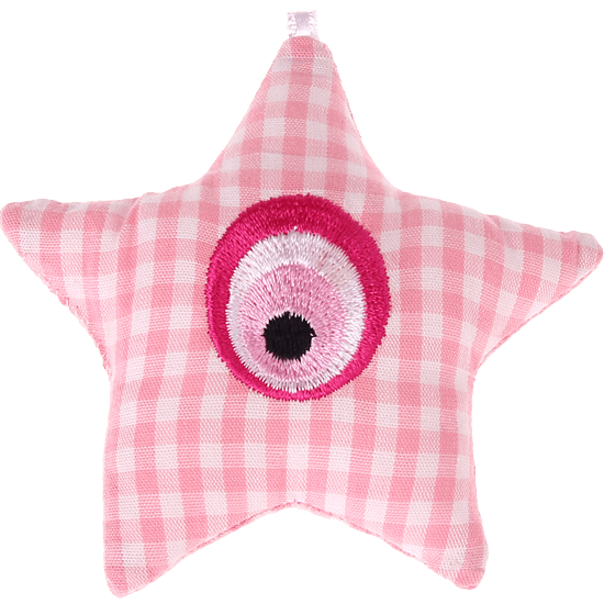 textile star pink Eye of Nazar