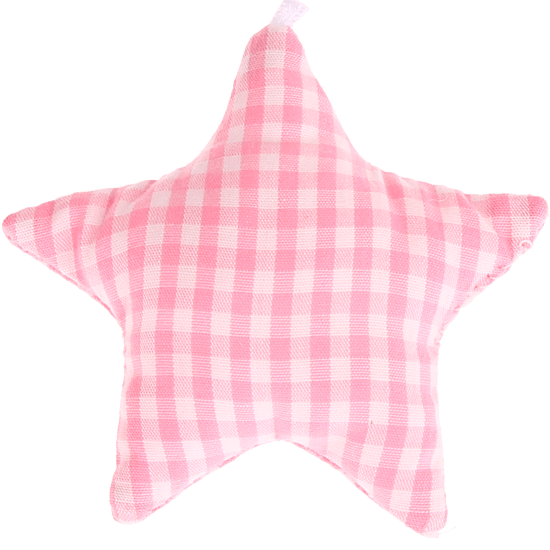 textile star pink checkered