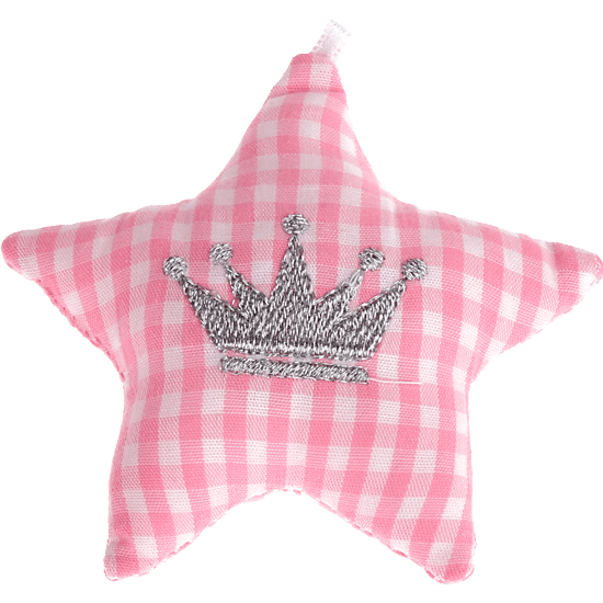 textile star pink crown